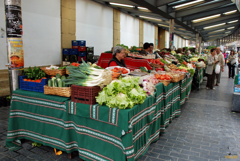 Mercado tradicional de La Bretxa. San Sebastián