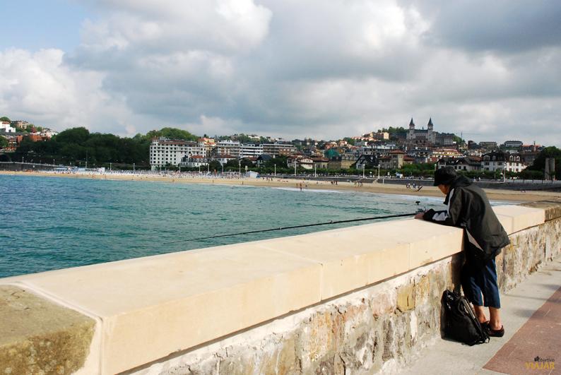 Playa de Ondarreta desde el Paseo Eduardo Chillida. San Sebastián