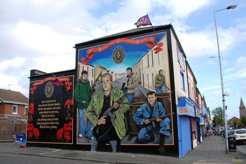 Los voluntarios del Ulster. Shankill Road. Belfast
