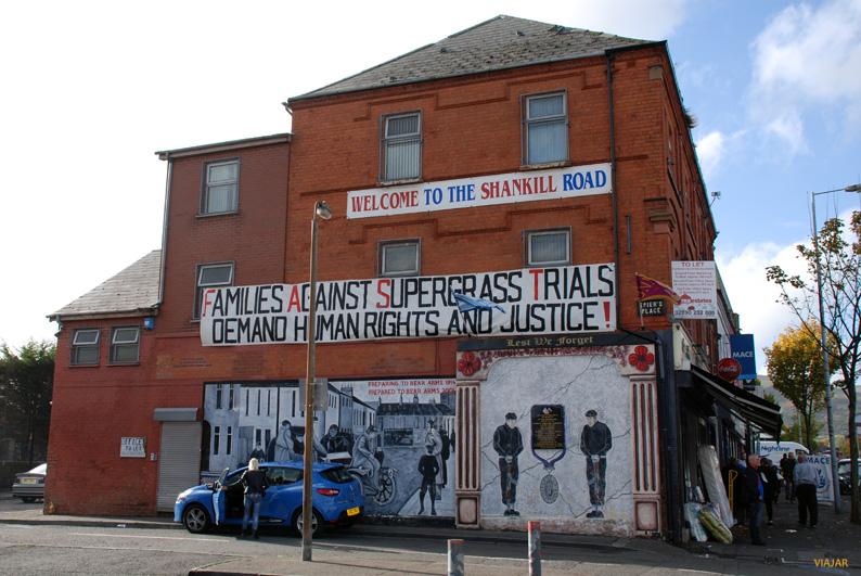Mural en Shankill Road. Belfast