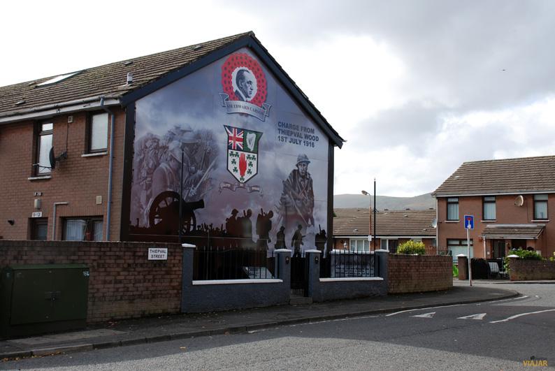Mural en los alrededores de Shankill Road. Belfast