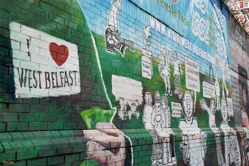 Mural situado en el oeste de Belfast