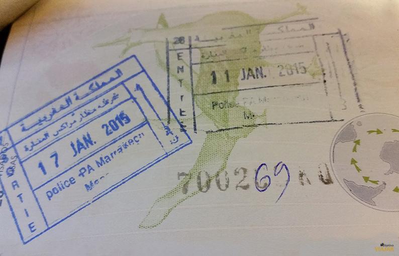 Pasaporte. Viajar a Marrakech