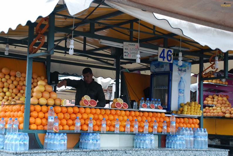 Puesto de zumos. Marrakech