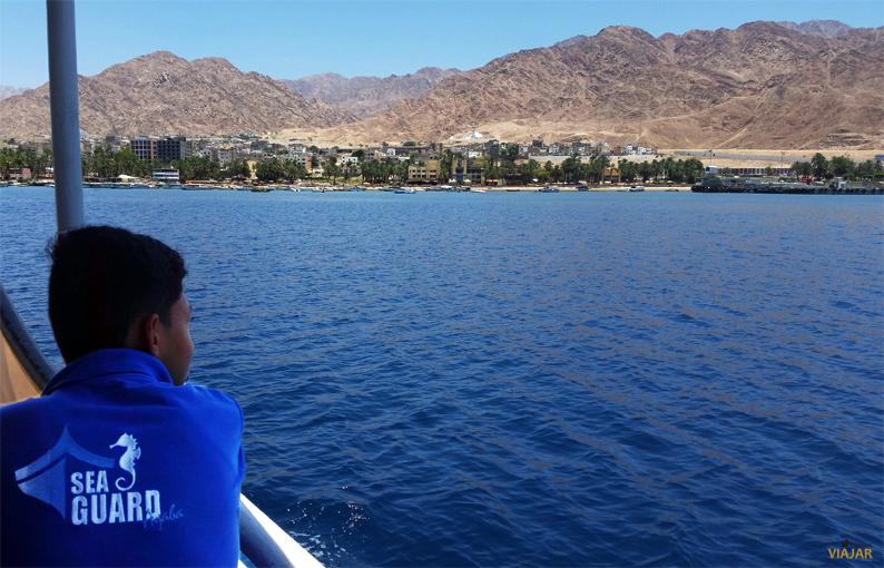 Aqaba desde el Mar Rojo. Jordania