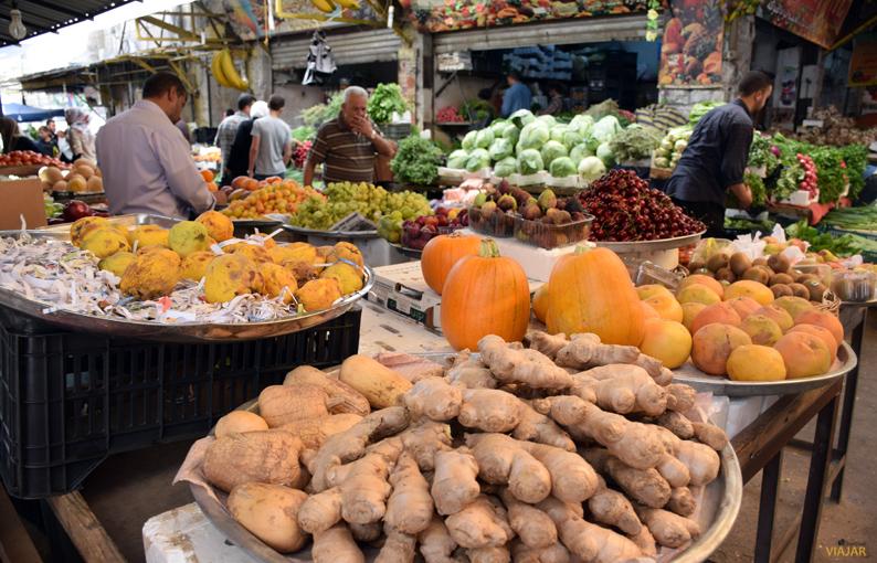 Mercado de frutas y verduras. Amán. Jordania