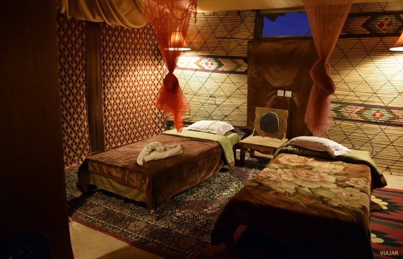 Mi tienda en el Captain's Desert Camp. Jordania