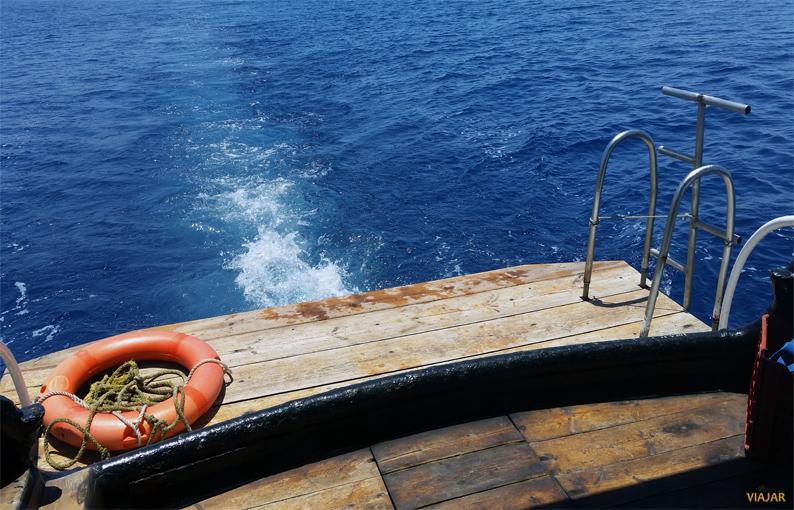 Navegando por el Mar Rojo. Jordania