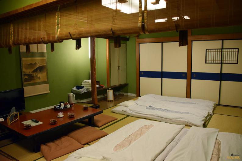 Nuestra habitación en el Murataya Ryokan. Kanazawa, Japón