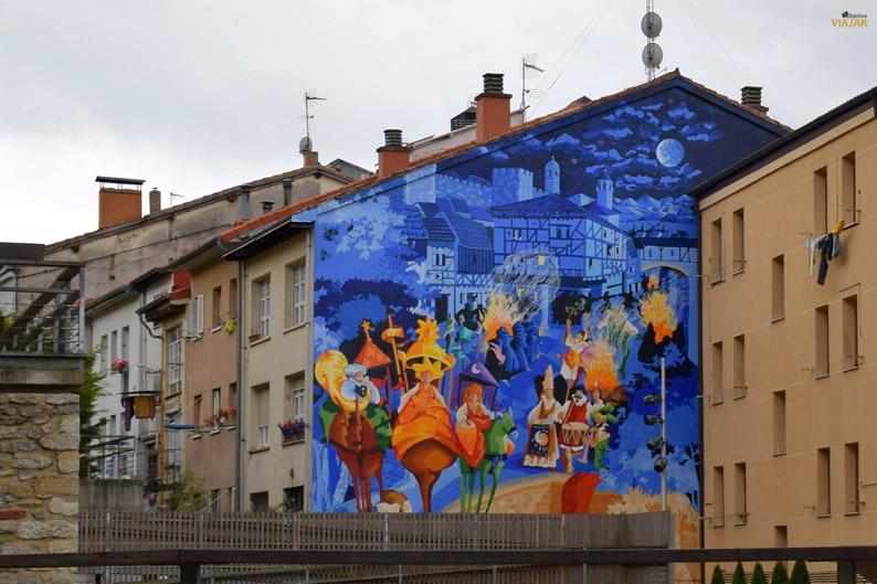 La noche más corta. Murales de Vitoria