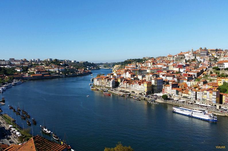 Panorámica de Oporto desde el puente D. Luis I