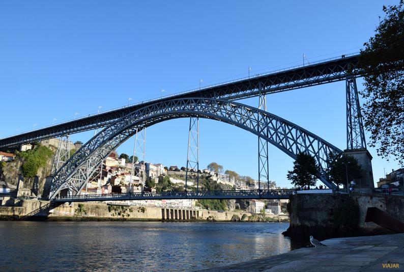Puente Don Luis I desde Vilanova de Gaia