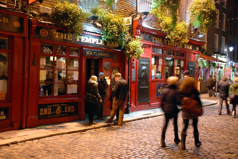 The Temple Bar. Dublín. Irlanda