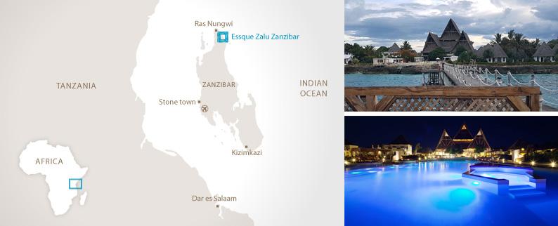 Mapa. Essque Zalu Zanzibar