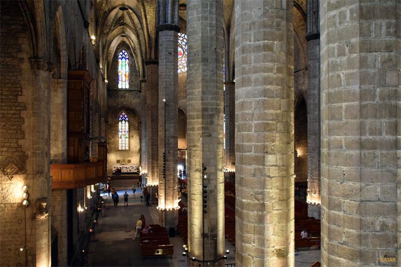 Basílica de Santa Maria del Mar desde las tribunas