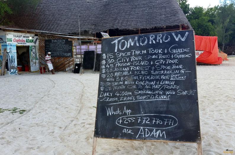 Excursiones en Zanzibar