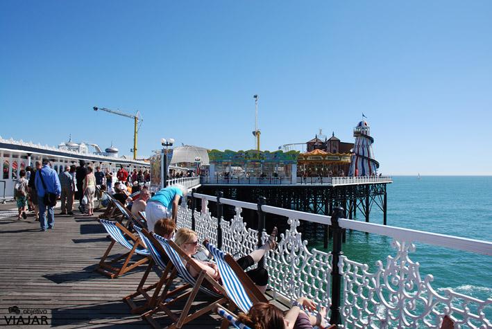 Hamacas del Brighton Pier. Brighton