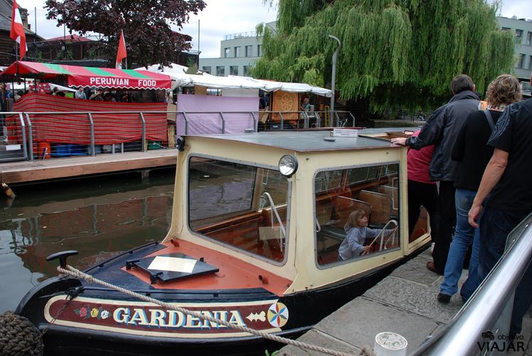 Llegada a Camden Lock.  Regent's Canal