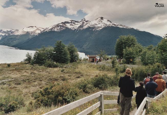 Tramo de las pasarelas del Perito Moreno. Argentina