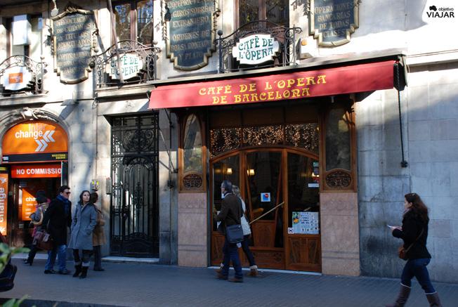 Café de la Ópera. La Rambla,  Barcelona
