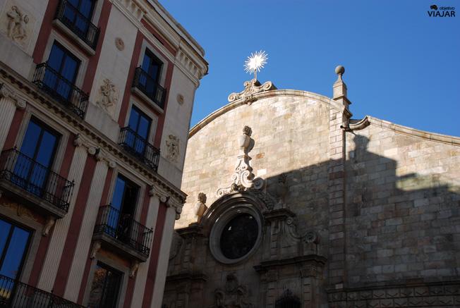 Detalle Iglesia de Betlem. Barcelona