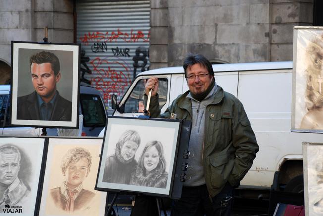 Pintor de La Rambla. Barcelona