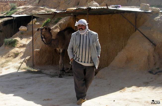 Bereber en Matmata. Túnez