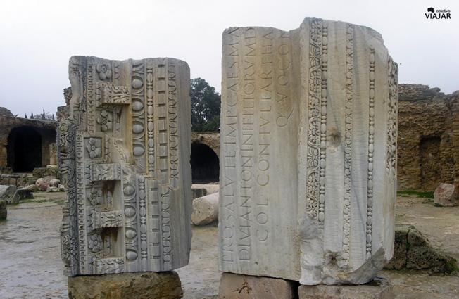 Detalle de las Termas de Antonino. Circuito por Túnez