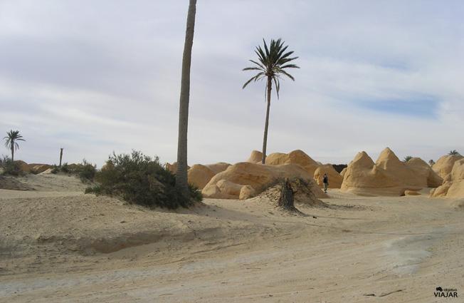 Figuras arenosas de Debebcha. Túnez
