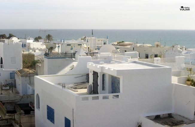 Hammamet desde la fortaleza. Circuito por Túnez