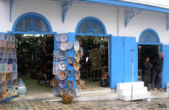 Tienda en Sidi Bou Saïd. Túnez