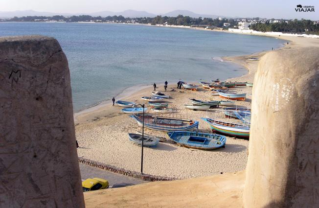 Vista de Hammamet desde el Fuerte. Circuito por Túnez