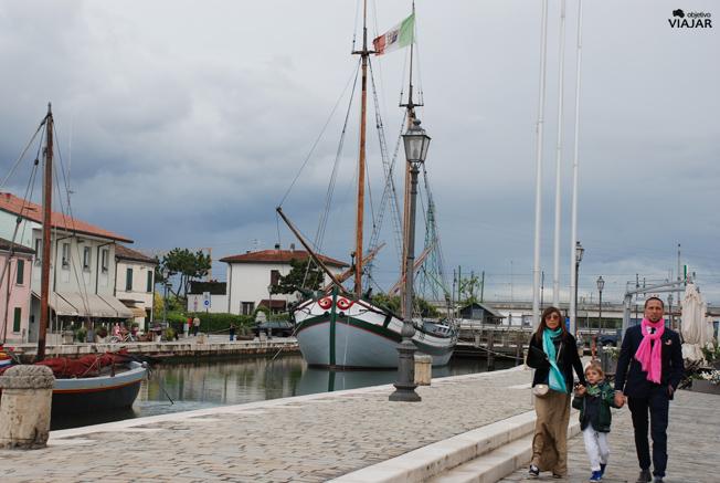 Embarcación Giovanni Pascoli. Sección flotante del Museo della Marineria. Cesenatico