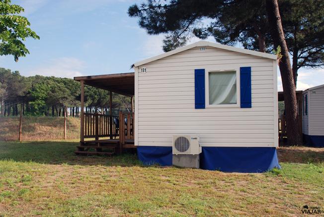 Exterior de nuestro Riviera Cottage en el Cesenatico Camping-Village