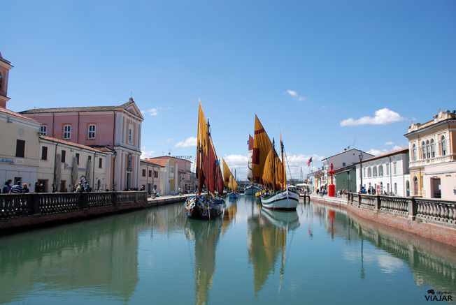 Vista del puerto-canal de Cesenatico