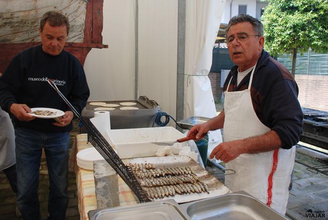 Y de segundo, sardinas a la parrilla