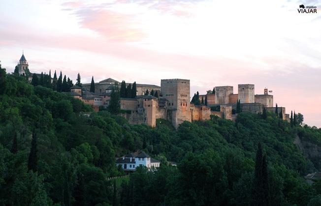 Atardecer en la Alhambra. Granada