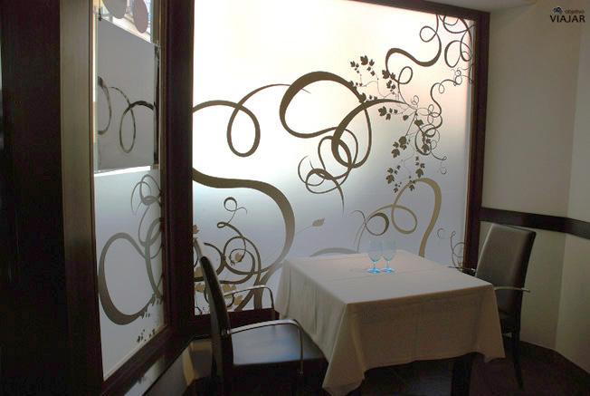 Uno de los salones del restaurante Yain. Teruel