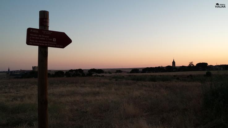 Amanece camino de la zona de despege. Segovia