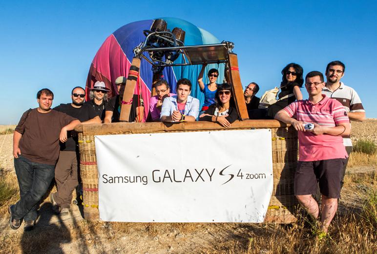 El grupo al completo con nuestro piloto de Globos Boreal. Segovia