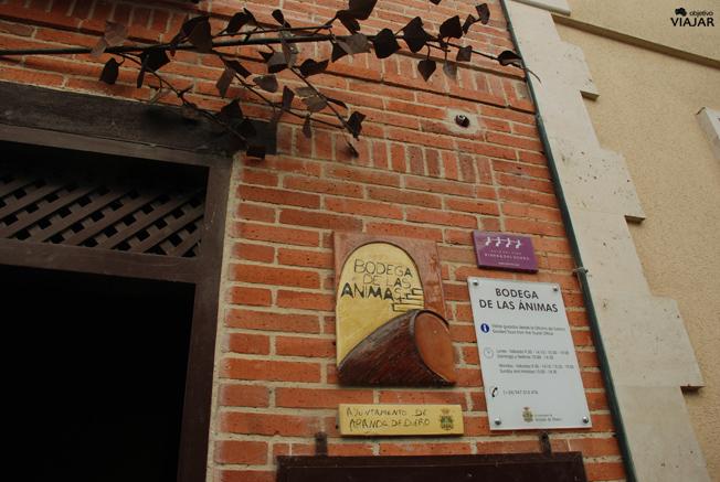 Entrada de la bodega de las Ánimas. Aranda de Duero. Burgos