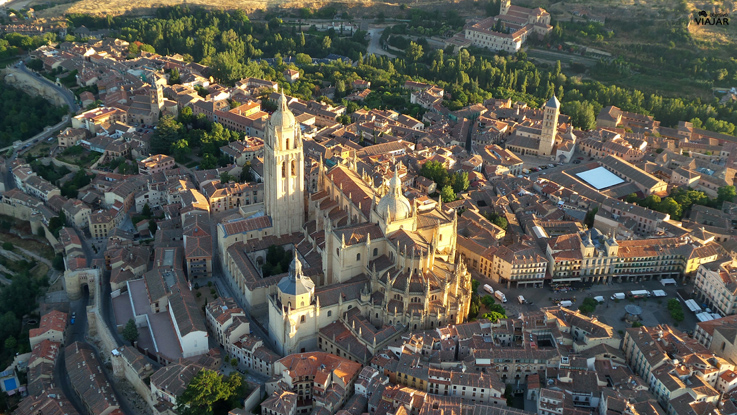 La Catedral de Segovia a vista de pájaro