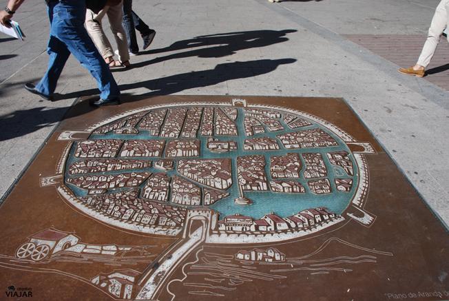 Plano de Aranda de Duero. Burgos