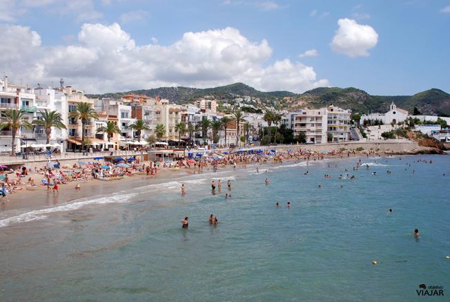 Playa de Sant Sebastià. Sitges. Barcelona