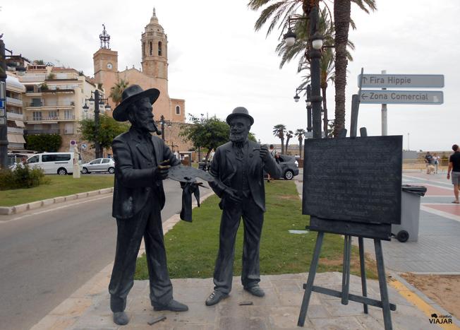 Ramón Casas y Santiago Rusiñol siguen conversando frente al mar En Sitges