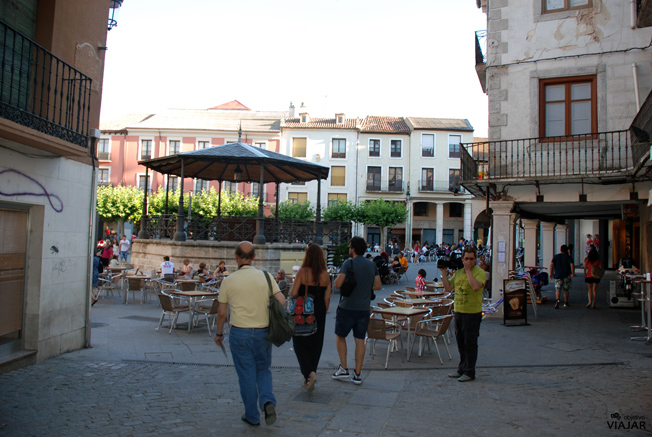 Un rincón de la Plaza Mayor de Aranda de Duero. Burgos