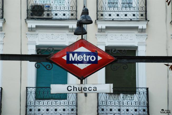 Boca de metro de Chueca. Madrid