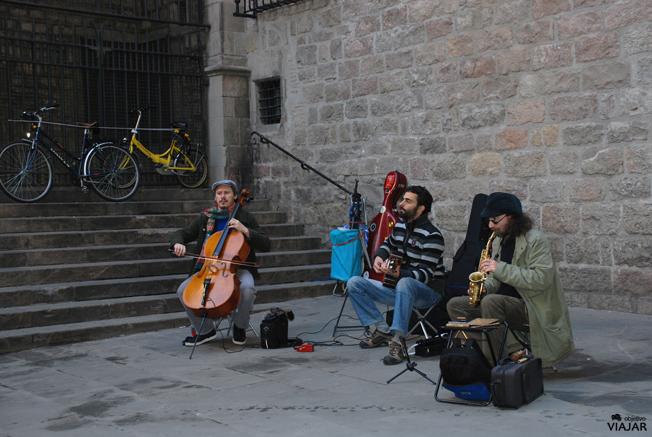 Músicos en el Gótico. Barcelona