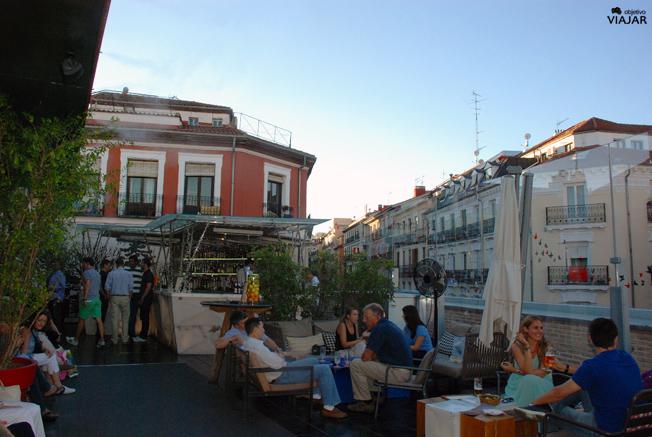 Terraza del restaurante La Cocina de San Antón. Chueca. Madrid