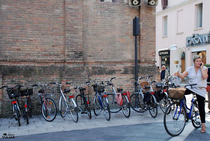 Bicicletas en Cesena. Italia